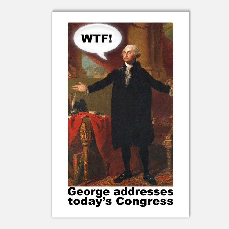George Washington WTF! Postcards (Package of 8)