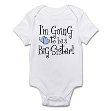 Heart New Big Sister Infant Bodysuit