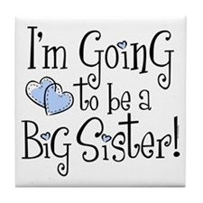 Heart New Big Sister Tile Coaster