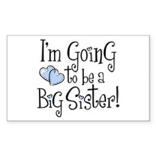 Heart New Big Sister Rectangle Decal