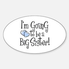 Heart New Big Sister Oval Decal