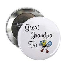Great Grandpa To Bee Button
