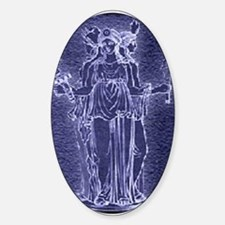 Noctilucent Hekate Oval Decal
