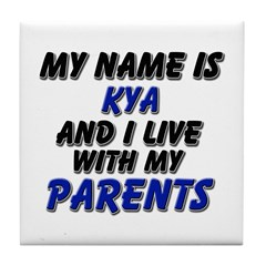 my name is kya and I live with my parents Tile Coa