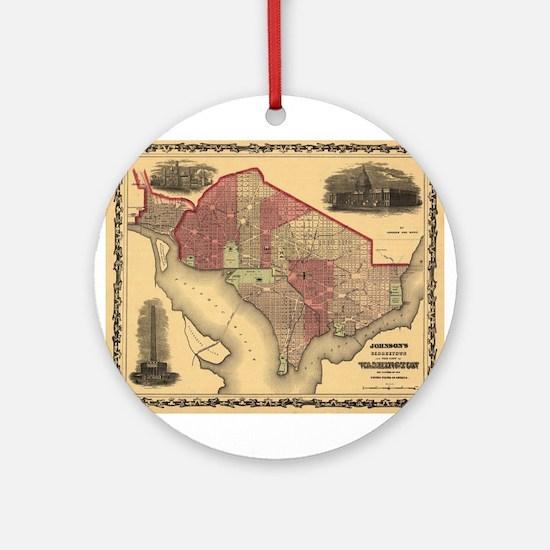 Washington DC (1862) Ornament (Round)