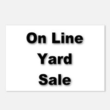 Unique Yard sale signs Postcards (Package of 8)
