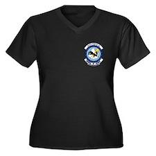 524th FS Women's Plus Size V-Neck Dark T-Shirt