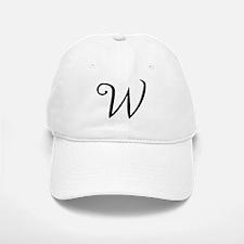Initial W Baseball Baseball Cap