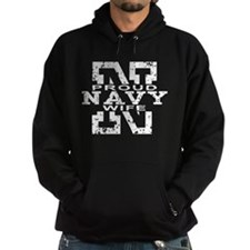 Proud Navy Wife Hoody