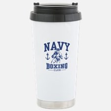 Navy Boxing Stainless Steel Travel Mug
