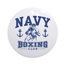 Navy Boxing Ornament (Round)