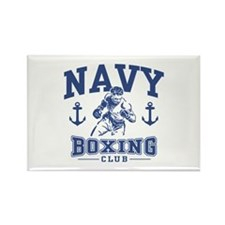 Navy Boxing Rectangle Magnet