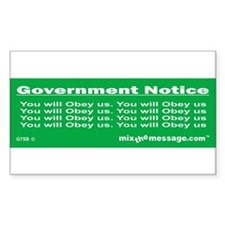You will Obey us Rectangle Decal