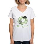 Keep New Zealand Clean Women's V-Neck T-Shirt