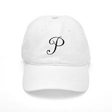 Initial P Baseball Baseball Cap