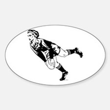 Women's Rugby Pass Oval Decal
