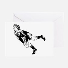 Women's Rugby Pass Greeting Cards (Pk of 10)