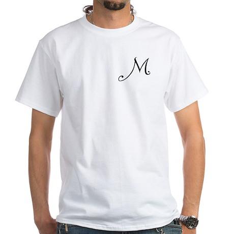 Initial M White T-Shirt