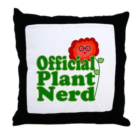 Plant Nerd Throw Pillow