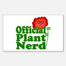Plant Nerd Rectangle Decal