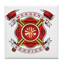 Fire Department Tile Coaster