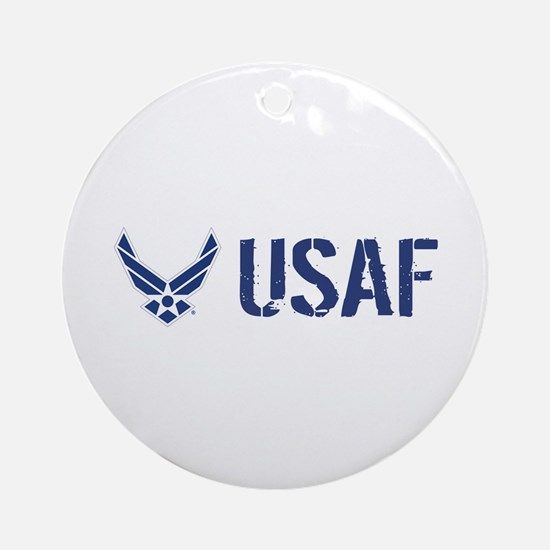 USAF: USAF Round Ornament
