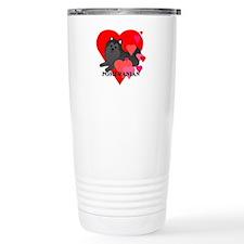 Black Pomeranian Travel Mug