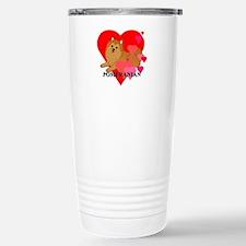 Orange Pomeranian Travel Mug