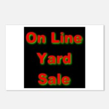 Funny Yard sale signs Postcards (Package of 8)