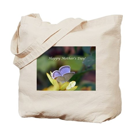 Blue Butterfly Mother's Day Tote Bag