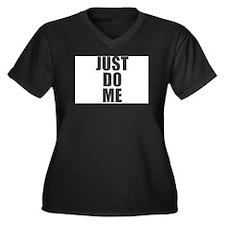 Just do it right Women's Plus Size V-Neck Dark T-S