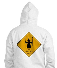 You Shall Not Pass! (back design) Hoodie