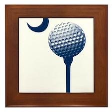 Unique Golfing Framed Tile