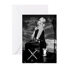 B & W Pinup on Truck Greeting Cards (Pk of 20)
