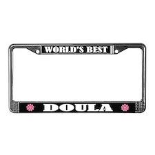 World's Best Doula License Plate Frame