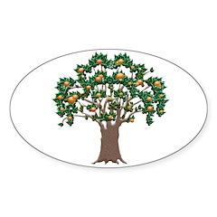 Orange Tree Oval Decal