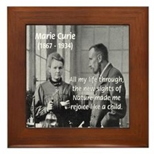 Marie Curie: World of Science Framed Tile