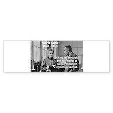 Marie Curie: World of Science Bumper Bumper Sticker