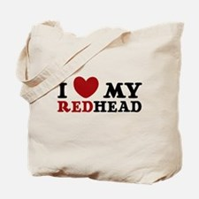 I Love My Red Head Tote Bag