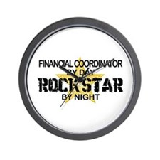 Financial Coordinator Rock Star Wall Clock