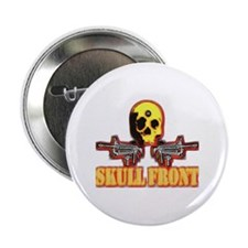 """skull front 2.25"""" Button"""