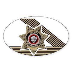 Sheriff San Bernardino Oval Sticker