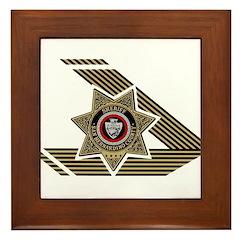Sheriff San Bernardino Framed Tile