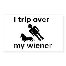 Wiener Trip Rectangle Decal