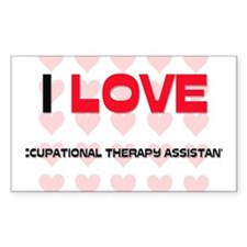 I LOVE OCCUPATIONAL THERAPY ASSISTANTS Decal