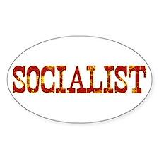 Socialist Oval Decal