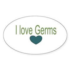 I love Germs Oval Decal