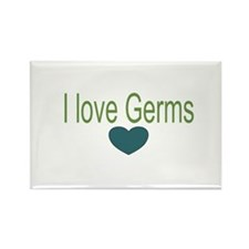 I love Germs Rectangle Magnet