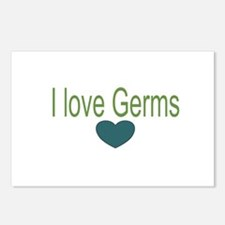 I love Germs Postcards (Package of 8)