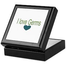 I love Germs Keepsake Box
